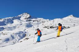 Blindenschneesport-Unterricht in Arosa mit der Schweizerischen Skischule Arosa